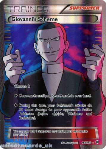 Giovanni/'s Scheme 162//162 BREAKthrough Rare Ultra Mint Pokemon Card
