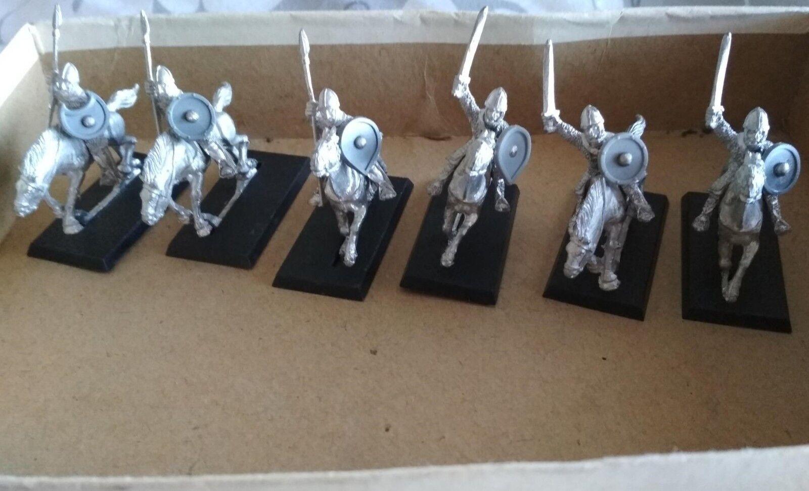 Warhammer Citadel Norman Cavalry 6 x Metal Miniatures F7 C.1985 Bretonian GW OOP