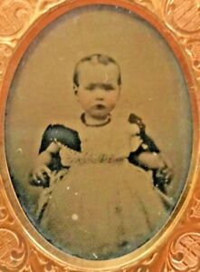 Daguerrotype-of-Baby-Toddler-Girl-in-Frilly-Dress-Victorian