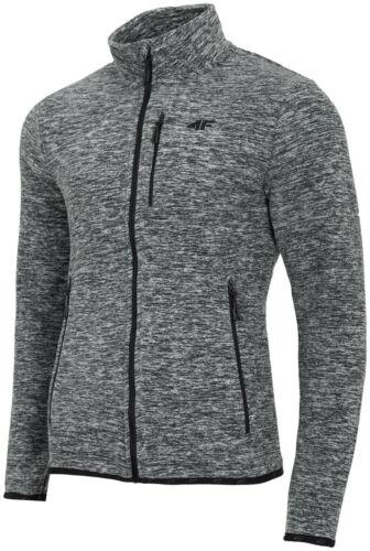 Fleecejacke Herren 4F Pullover Sweatjacke Strickjacke Sweatshirt Übergangsjacke
