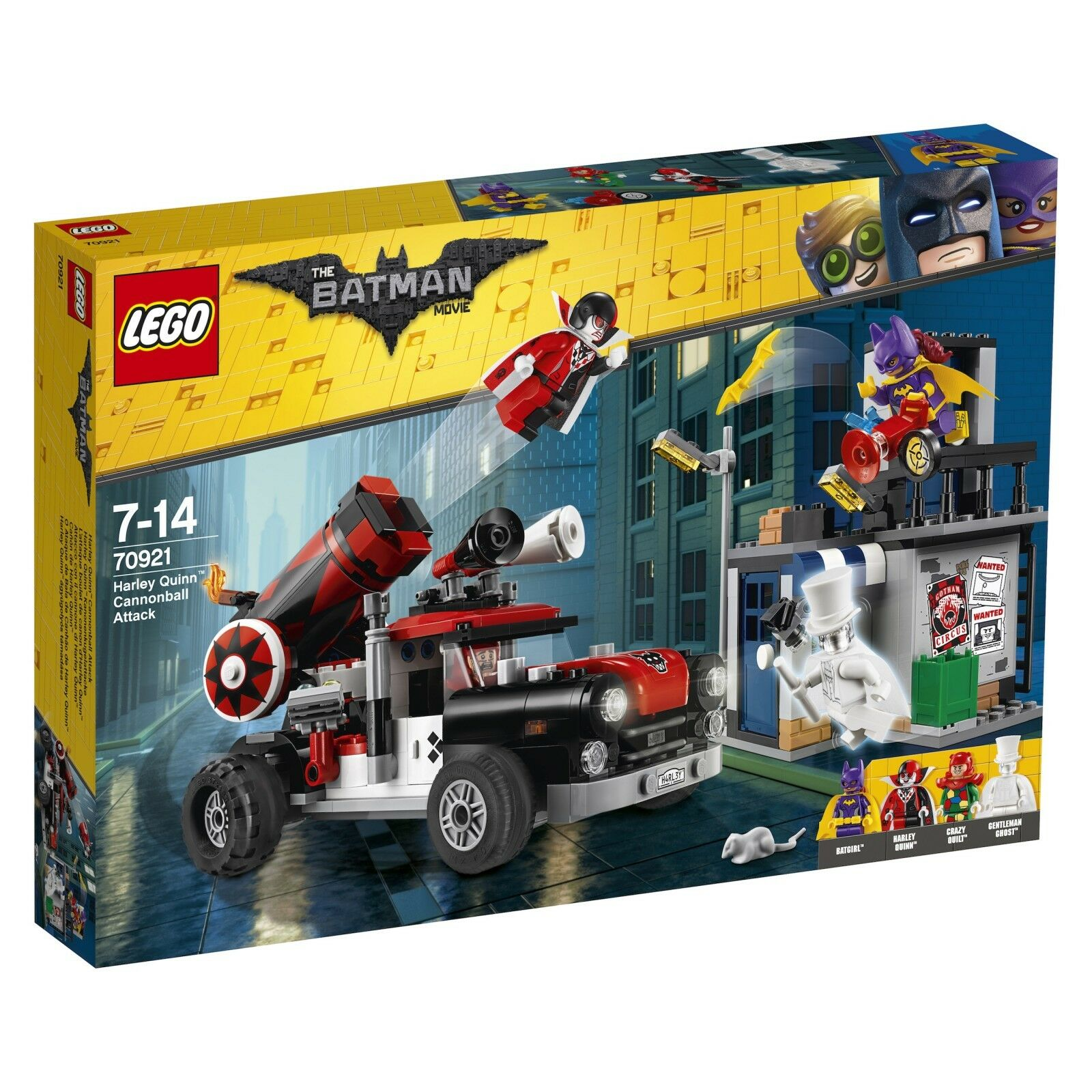 THE LEGO® BATMAN MOVIE 70921 Harley Quinn™ Kanonenkugelattacke NEU OVP NEW MISB