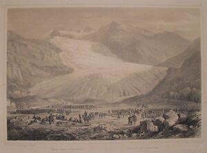 Eugen-Adam-Rhone-Gletscher-Wallis-Mountaineer-Alpini-Mule-Uniform-Manoeuvres