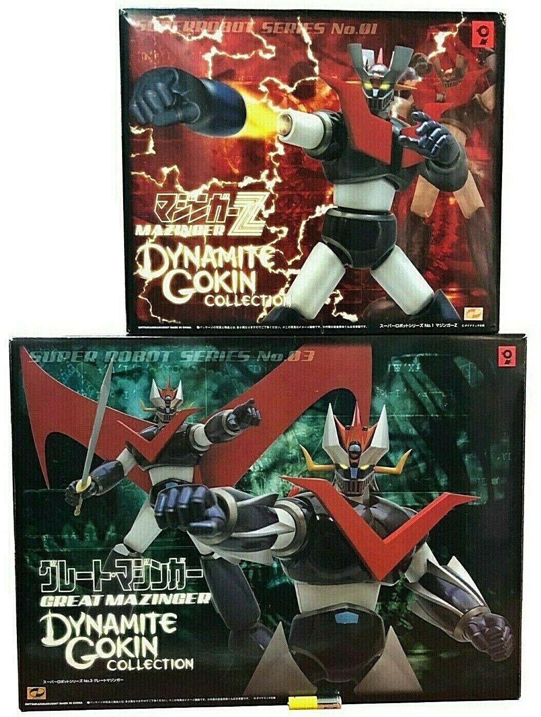 2 Chogokin el Grande Mazinger Great + Z Dynamite Gokin Sr Metal