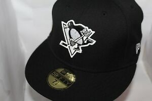 brand new 193fb c28ec Image is loading Pittsburgh-Penguins-New-Era-NHL-Black-White-59fifty-