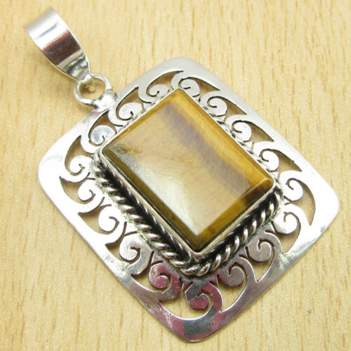 925 Silver Plated Cut BLACK ONYX /& Other Many Gemstones To Choose CELTIC Pendant