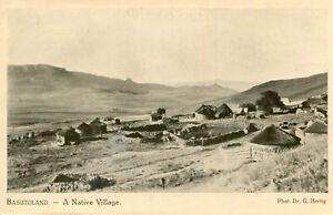Carte-LESOTHO-Basutoland-A-Native-Village