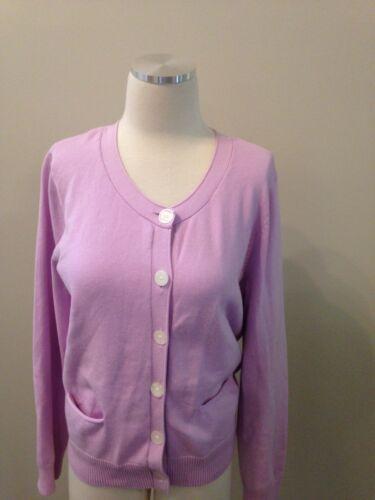 J. Jill Lilac Purple Pocket Cardigan Sweater Medi… - image 1
