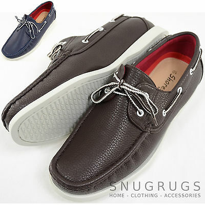 Mens Faux Leather Smart / Casual / Summer Lace Up Boat / Deck Shoes / Loafers