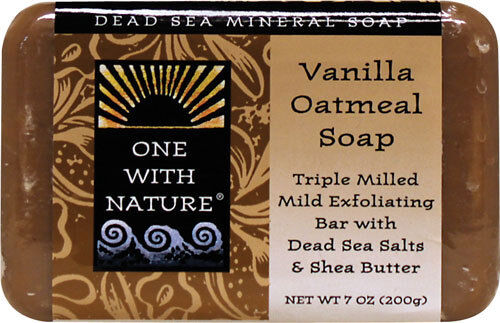 DEAD SEA MINERALS SOAP VANILLA OATMEAL EXFOLIATING CLEANSES SMOOTH SKIN BAR 7 OZ