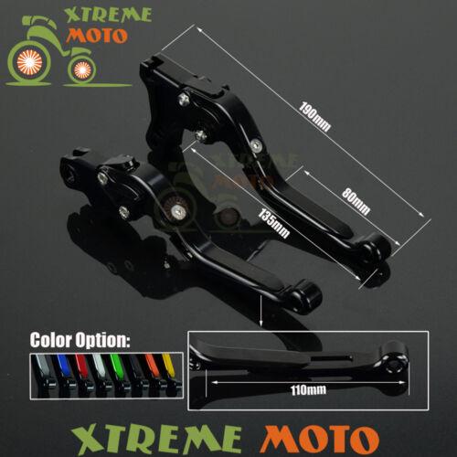 CNC Extending Folding Brake Clutch Levers For Suzuki GSXR600 GSXR750 GSXR1000
