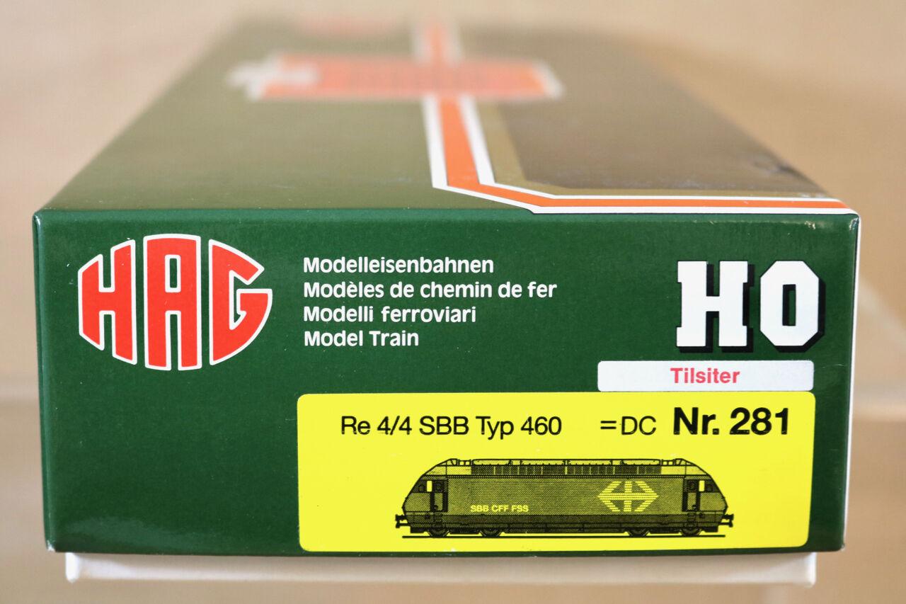 HAG 281 281 281 DC SBB CFF CLASS Re 4 4 460 020-1 E-LOK LOCO TILSITER MIB nj 4b8775