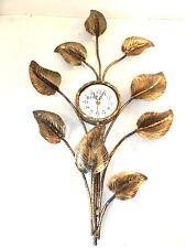 Grande orologio da parete FOGLIE in FERRO BATTUTO ORO