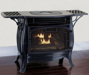 Duluth Forge Vent Free Gas Stove Dual Fuel Gloss Finish Remote