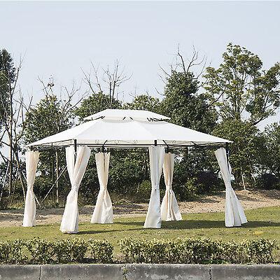 3m x 4m Canopy Party Tent Garden Pavillion Patio Metal Gazebo Shelter Pavilion