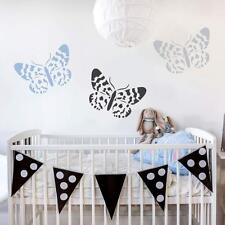 Blue Butterfly Day Wall Art Stencil - Size SMALL  - By Cutting Edge Stencils