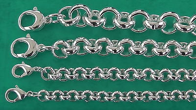 Erbskette 7mm 8mm 11mm 13mm versilbert Erbsarmband nach Maß