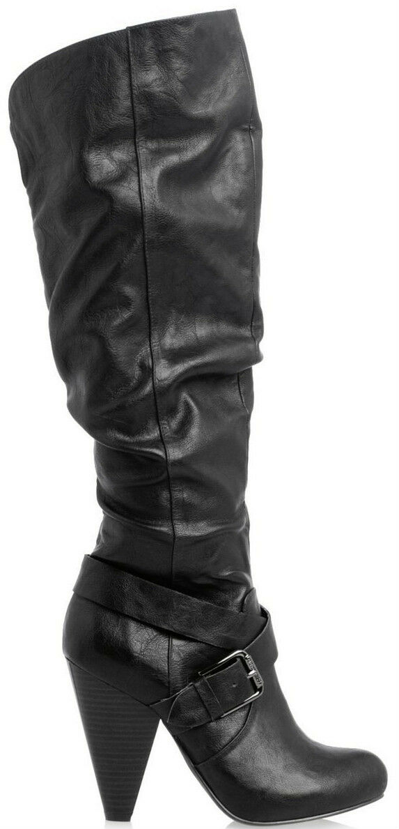 Guess G by Frantic boots knee high 4  heel 5.5 Med NEW