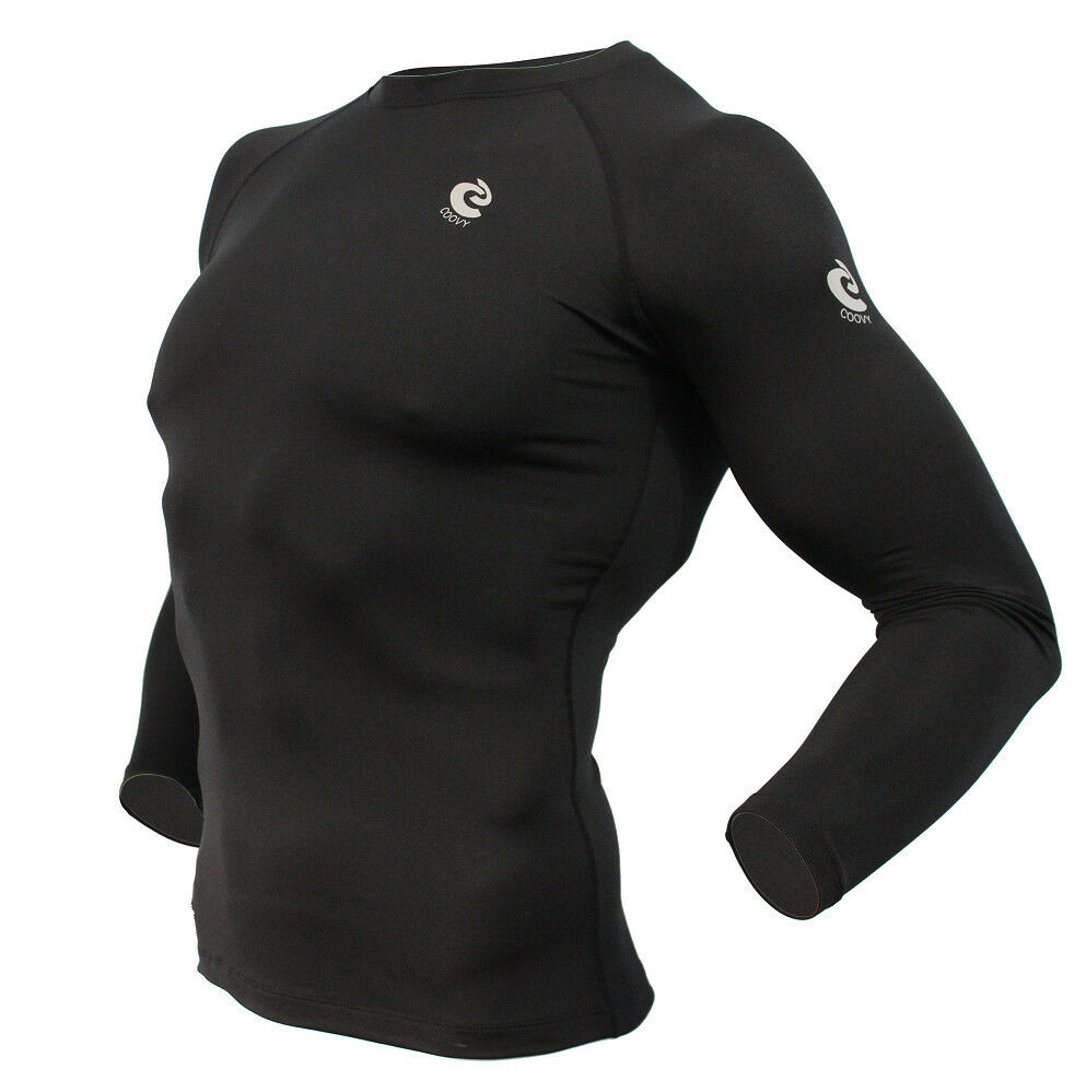 Men/'s COOVY Winter THERMAL Compression Under Base layer Shirt Tights Cold Gear
