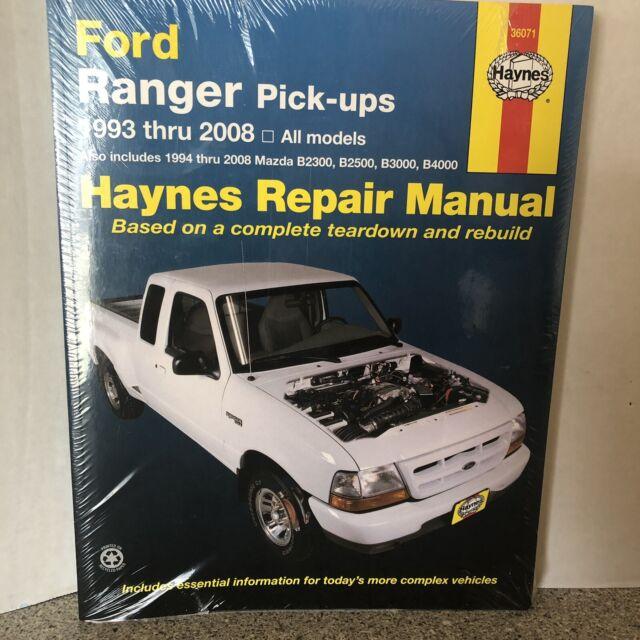 36071 Haynes Repair Manual For Pickup Ford Ranger Mazda