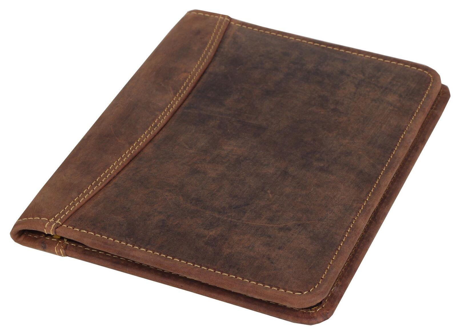 Grünburry Vintage Schreibmappe Konferenzmappe Ledermappe Grünretermappe A5 | Moderate Kosten  | Lass unsere Waren in die Welt gehen  | Erste in seiner Klasse