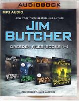 Jim Butcher's Dresden Files Collection: Books 1-4 Unabridged Mp3 Audio Book