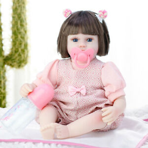 42CM Full Body Silicone Dolls Lifelike Baby Girl Newborn Doll Toy