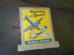 AA-7-VINTAGE-skycruises-to-bermuda-colonial-airlines-table-top-display