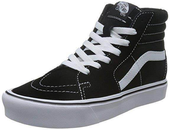 VANS shoes U Sk8-Hi Lite (Suede Canvas) black   white sneakers unisex