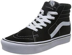 c5f181ed11 VANS shoes U Sk8-Hi Lite (Suede Canvas) black   white sneakers ...