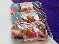 NEW Red Heart Boutique Unforgettable Yarn 3- 3.5oz. Skeins Same Dye Lot TEALBERY