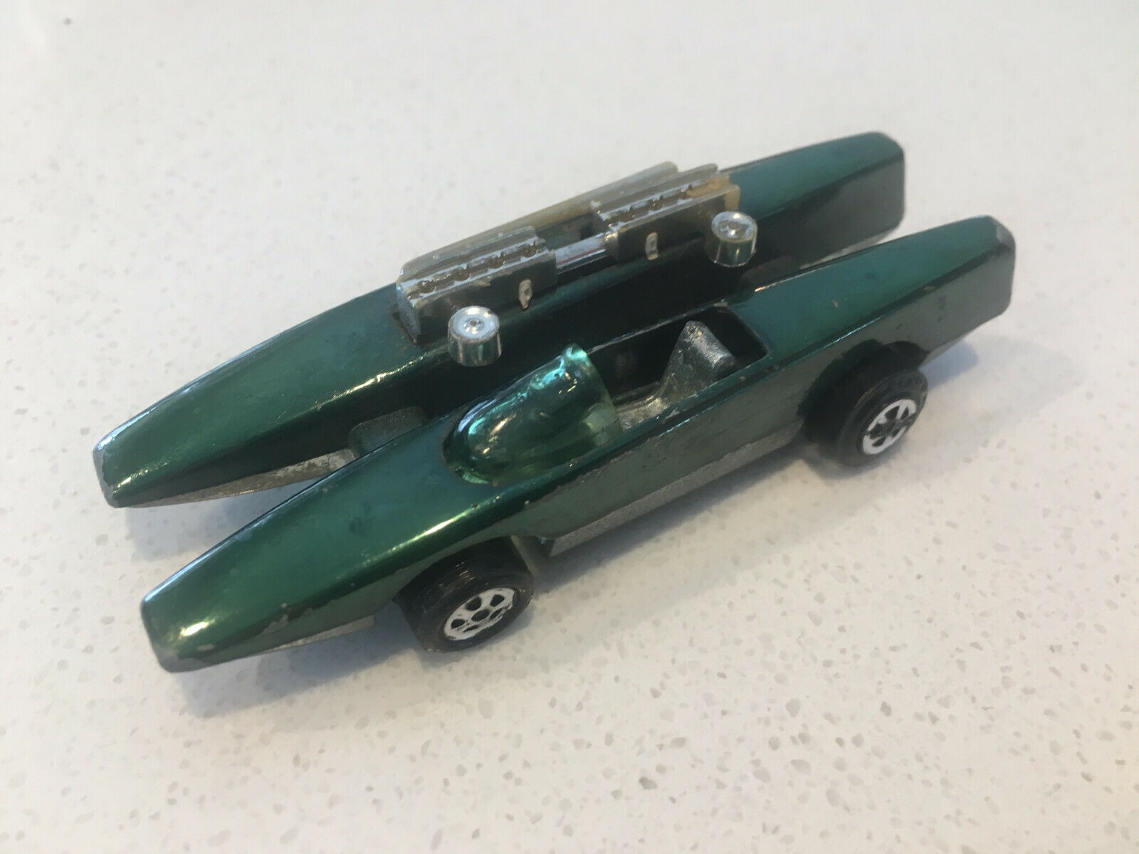 Vintage Johnny Lightening Double Trouble in Green