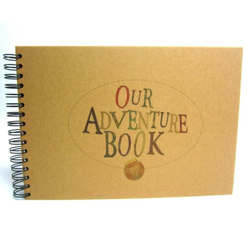 A5 A4 OUR ADVENTURE BOOK DIY Keepsake Photo Album x60 Sides Card Pages