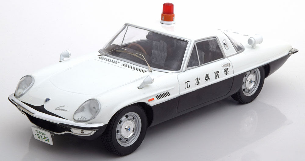 Triple 9 Mazda Cosmo Cosmo Cosmo Sport Police Japan in 1 18 Scale New Release  5a2886