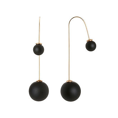 NEW Wayne Cooper Double Ball Thread Earring Gold