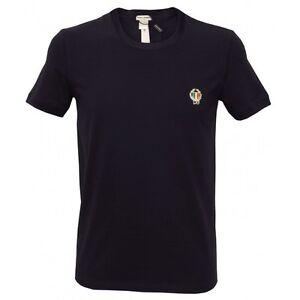 Dolce-amp-Gabbana-Sport-Crest-Crew-Neck-Men-039-s-T-Shirt-Navy