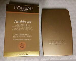 LOREAL-564-TAN-AIR-WEAR-POWDER-BOXED-NEW-RARE