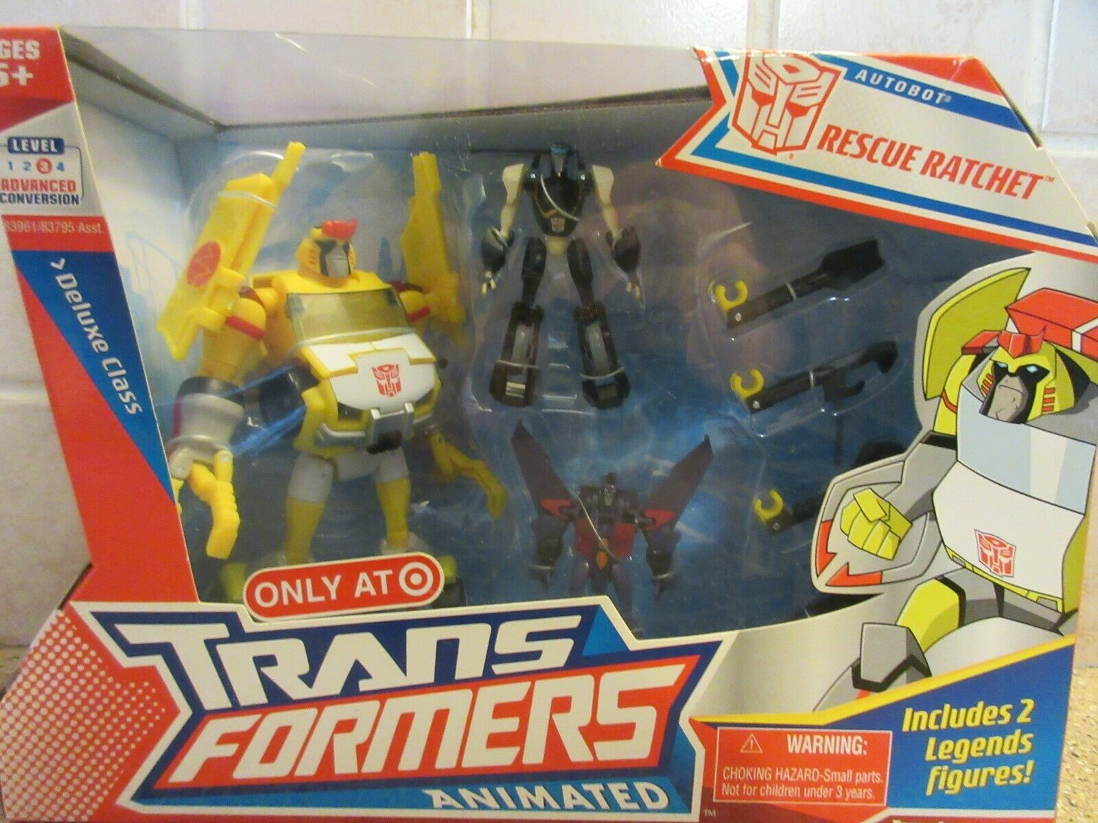 2008 Transformers Animated Autobot Rescue Ratchet Deluxe Class HTF   NIB