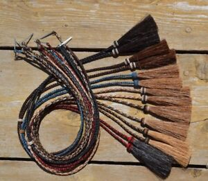 Natural-Braided-Horsehair-Stampede-String-Tassels-Cotter-Pin-Assorted-Colors