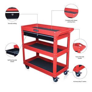 Us pro tools acero banco de trabajo herramienta carretilla for Mesa herramientas