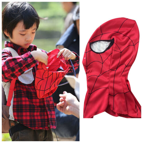 Super Hero Spiderman Red Mask Fancy Dress Cosplay Costume Adult Kids Mask Red UK