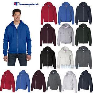 Champion - Eco Full-Zip Hooded Sweatshirt Fleece Hoodie S-3XL ...
