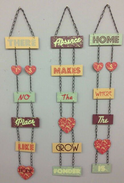 CHIC HANGING METAL SIGNS VINTAGE RETRO WALL PLAQUE HOME