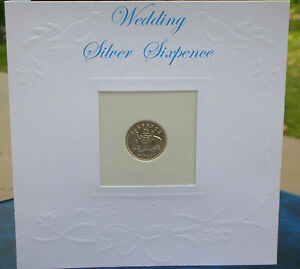 Wedding-Sixpence-Silver-Special-Father-039-s-Gift-to-Bride-amp-Personalised-Card