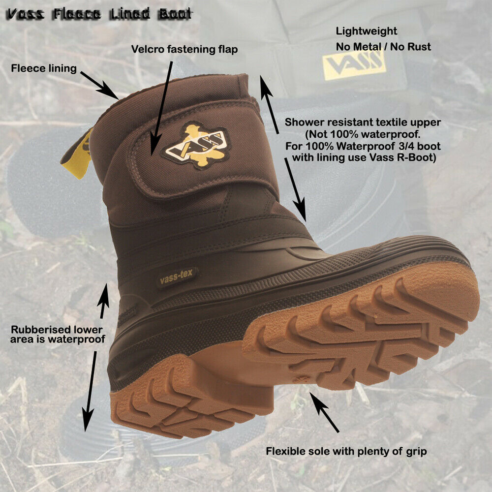 NEW UPGRADED 2019 VASS FLEECE LINED  BOOT FISHING   WADING BOOT