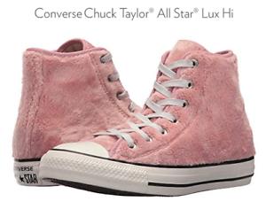 converse piel rosa