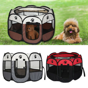 UK-Large-Portable-Pet-Dog-Cat-Playpen-Tent-Oxford-Fabric-Fence-Kennel-Cage-Crate