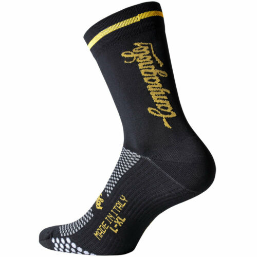 Black /& Yellow Made in Italy NEW Campagnolo Litech Summer Road Cycling Socks