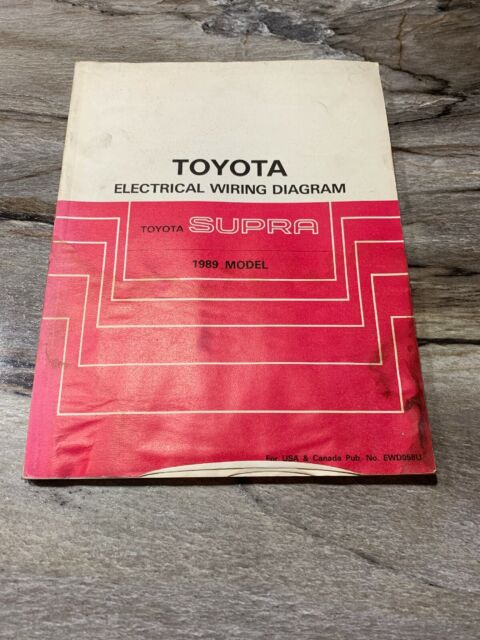 1989 Toyota Supra Wiring Diagrams Electrical Service ...