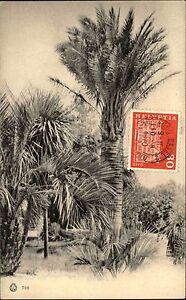 Cartolina-Italiana-Italien-1920-gelaufen-1970-mit-Briefmarke-Helvetia-Schweiz