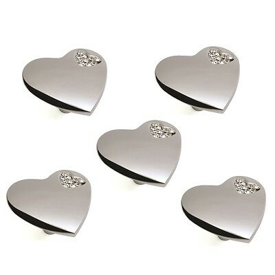 5Pcs Of Modern Heart Shape Pull Knobs Door Cabinet Cupboard Drawer Pull Handle